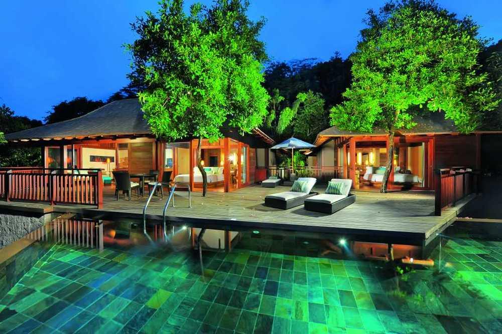 Una exclusiva villa con piscina privada en las seychelles for Villas de vacaciones con piscina privada