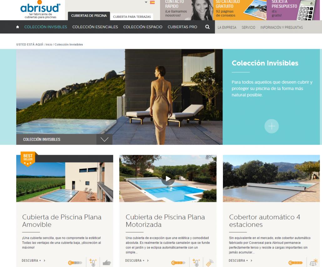 Colección Invisibles Cubierta piscina Abrisud Fabricante cubierta de piscina
